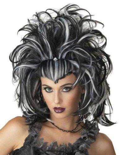 Morris Costumes Wig Evil Sorceress Black White