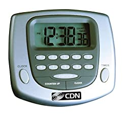 CDN TM23-S Big-Digit Digital Timer/Clock - Set of 2