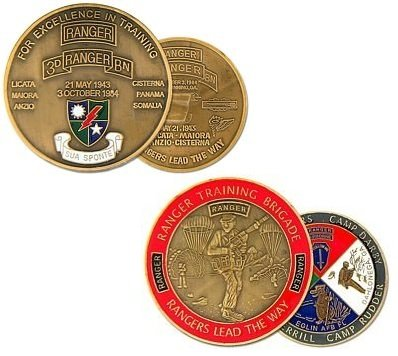 US Army Ranger 3rd Ranger Battalion Challenge Coin and Ranger Training Challenge Coin (Battalion Challenge Coin)
