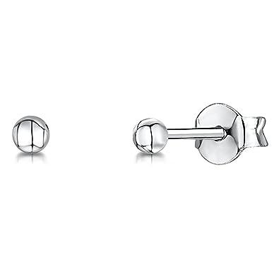 JOOLS by Jenny Brown ® Sterling Silver Earrings - Silver Ball Stud Earrings- Swsh13