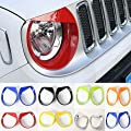 Highitem 2PCS Head Lights Trim Lamp Cover Headlights Ring Bezel Exterior Chromium Styling ABS For Jeep Renegade