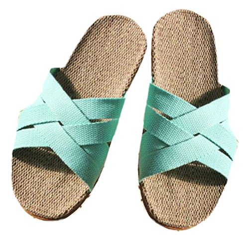 Nanxson (tm) Heren Heren Antislip Linnen Criss Cross Slipper Tx0028 Blauw