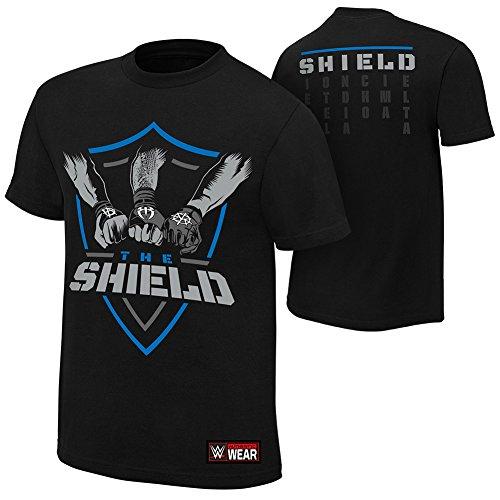 WWE The Shield Shield United Authentic T-Shirt Black Medium