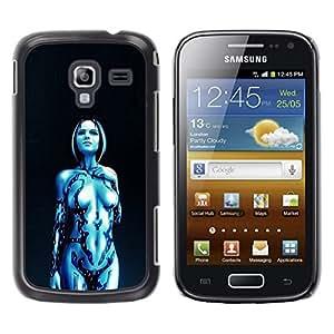 TopCaseStore / la caja del caucho duro de la cubierta de protección de la piel - Robot Sci Fi Humanoid Woman - Samsung Galaxy Ace 2 I8160 Ace II X S7560M