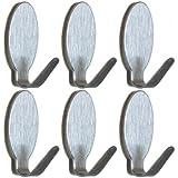 6 Handtuchhalter Oval Edelstahl Wandhaken Klebehaken Haken Handtuchhaken Bad  Küche