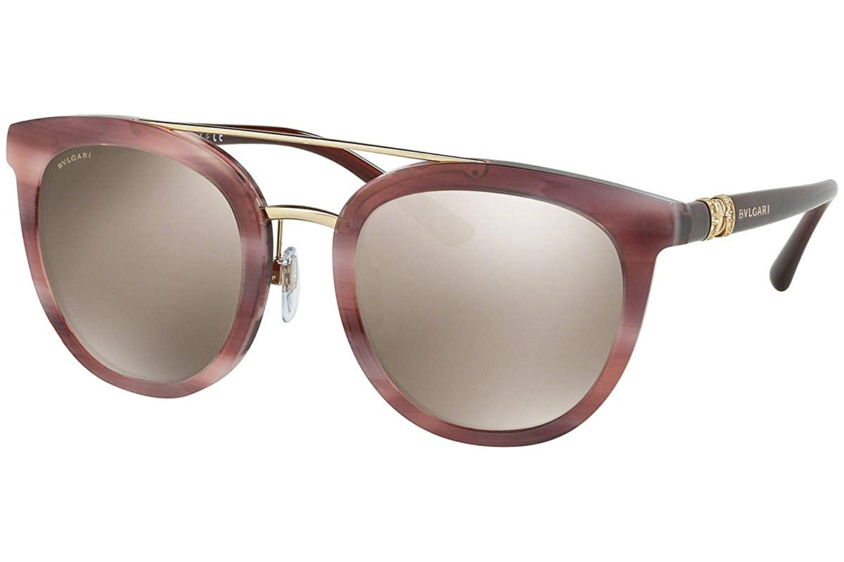 Amazon.com: Bvlgari bv8184b anteojos de sol Havana rosa w ...