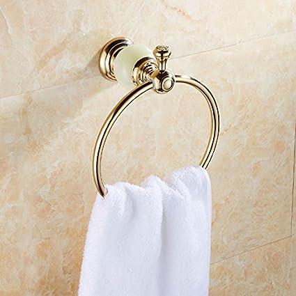 Sursy Jade Continental Toalla Anillo CU Todos Toallas Baño De Oro Toallas WC Anilla para Colgar