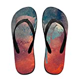 Couple Flip Flops Elephant Drawn Abstract Print Chic Sandals Slipper Rubber Non-Slip Beach Thong Slippers