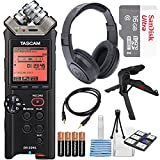 Tascam DR-22WL Portable Handheld Recorder with Wi-Fi, 16GB MicroSD Card Along with Deluxe Accessory Bundle and Cleaning Accessories