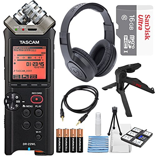 Tascam DR-22WL Portable Handheld Recorder with Wi-Fi, 16GB