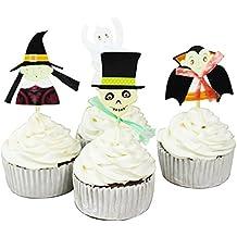 Betop House 24 Pieces Halloween Party Cupcake Topper Cake Picks