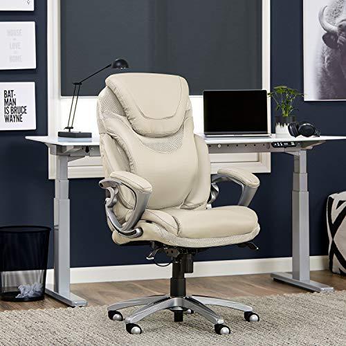 Serta 43807B Works, Executive, Cream (Cream Computer Desk)