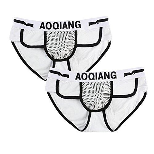 Price comparison product image iOPQO Fashion Men Boxer Brief Shorts Soft Cotton Underwear Bulge Pouch Pant