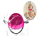 MINI LOP Sonic Facial Cleanser, Silicon Vibrating Face Cleansing Brush & Massager Newest Wireless Electric Waterproof Facial Cleansing System (Rose Pink)