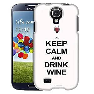 Samsung Galaxy S4 Case, Slim Fit Snap On Cover by Trek KEEP CALM and Drink Wine on White Case