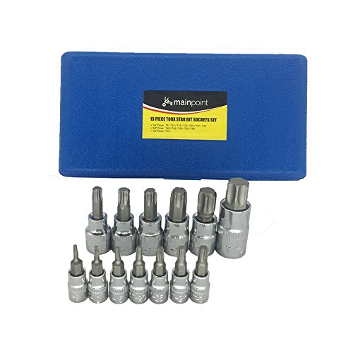 Mainpoint Star Torx Bit Socket Set 13 Pieces T8 - T70 CRV 1/2'' 3/8'' 1/4'' Drive by Mainpoint (Image #6)
