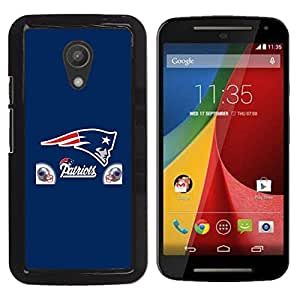 Design for Girls Plastic Cover Case FOR Motorola G 2ND GEN II Patriot Football OBBA