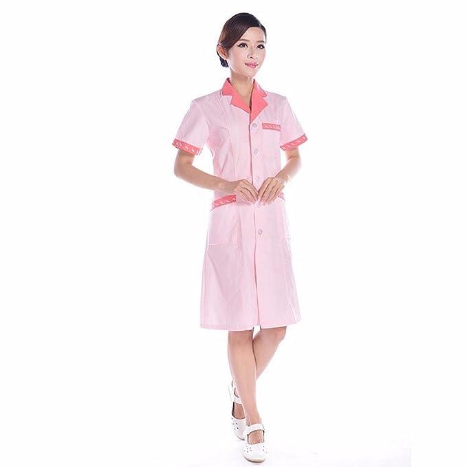 Xuanku Ropa De Trabajo Verano Hospital Pharmacy Peto De Trabajo Salon De Belleza Servicio Verano Enfermera De Algodón Ropa De Trabajo: Amazon.es: Ropa y ...