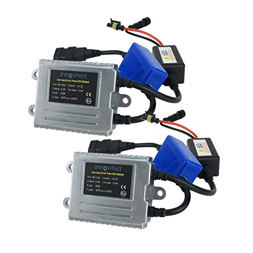 Innovited 2 pcs Canbus Error Free HID Replacement Ballast with Warning Canceller and Anti-Flicker - 2 Year Warranty