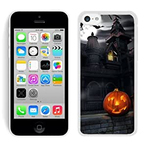 Hot Sell Design Iphone 5C TPU Rubber Protective Skin Halloween iPhone 5C Case 5 White by Maris's Diary