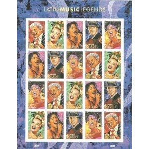 Latin Music Legends - Sheet of 20 Forever Stamps Scott 4497-4501