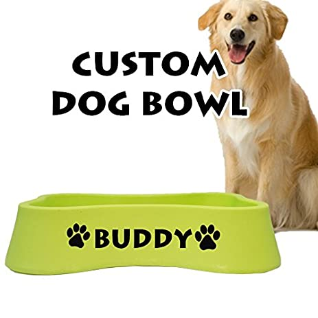 Jeyfel decals personalized dog bowl customized name custom pet bowl style 2