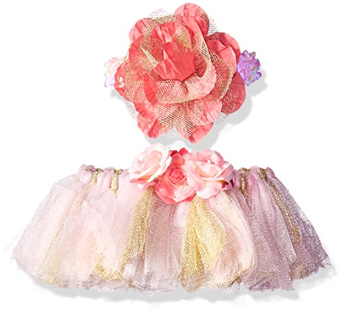 Toby & Company Baby Tutu and Flower Sequin Headband 2 Piece Set, Light Pink, Newborn Infant Blended Toby Set