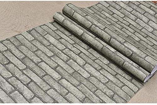 壁紙 YKBBA 壁紙シール 防水壁ステッカー取り外し可能なビニール自己接着剤壁紙 40cmX5m 灰色