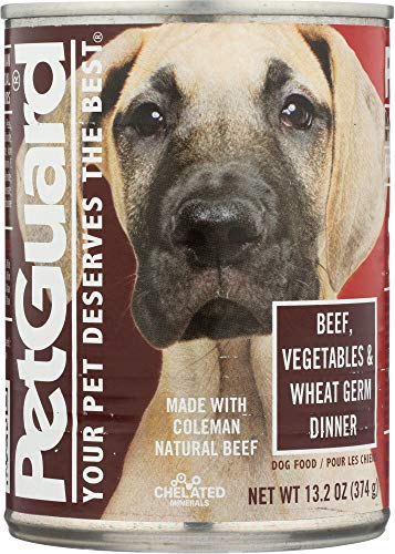 Petguard (NOT A CASE) Beef, Vegetables and Wheat Germ Dinner Canned Dog Food