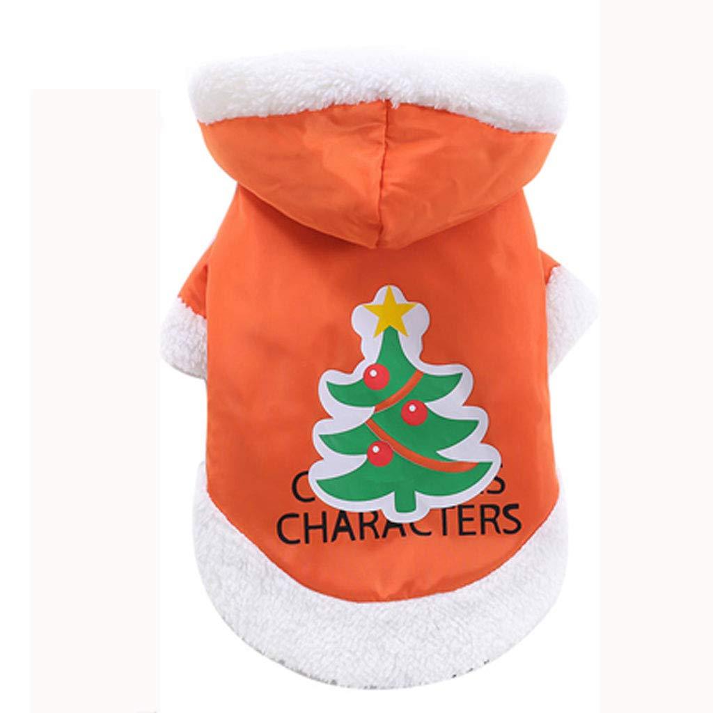M Pet Dog Clothes Christmas Costume Cat Pet Cat Autumn and Winter Three-Piece Suit (Size   M)