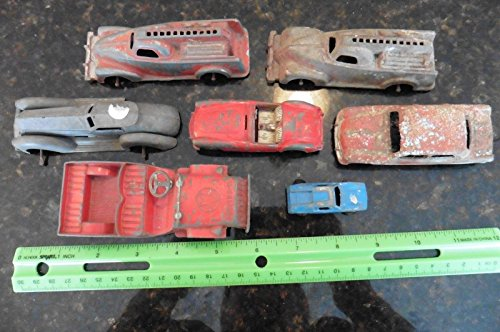 Lot of Vintage Diecast toy cars Dinky Ford Manoil 702 709 Tootsietoy Corgi MGA + from Genric