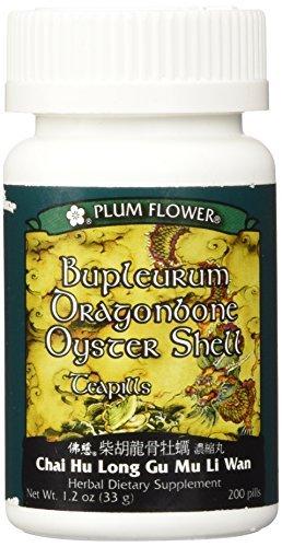 Bupleurum Dragonbone Oystershell Pills/Chai Hu Long Gu Mu Li Wan, 200 ct, Plum Flower by Plum Flower