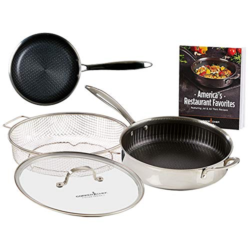Copper Chef Titan Fry Pans, 9.5 inch with 8 inch, stainless-steel