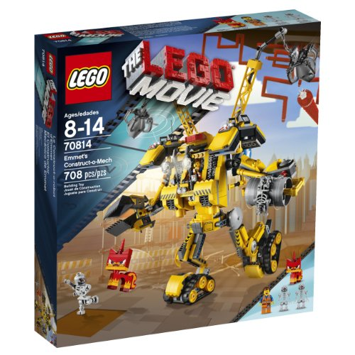 משחק לגו- LEGO Movie 70814 Emmet's Construct-o-Mech Building Set