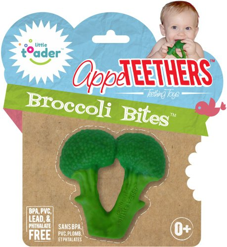 Little Toader Teething Toys, Broccoli Bites (Organic Food Gift Baskets Online)
