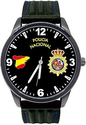 Reloj G&B Policía Nacional Esfera Negra Correa Caucho: Amazon.es: Relojes