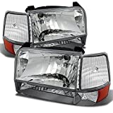 96 bronco headlight assembly - Ford Bronco F150 F250 F350 OE Replacement Chrome Headlights Corner Signal Left/Right Lamps Set
