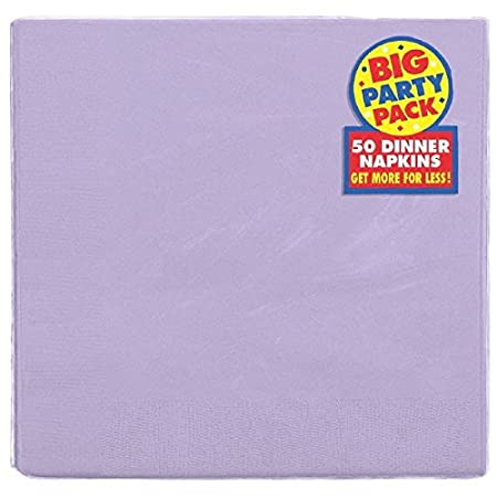 Big Party Pack 2-Ply Dinner Napkins Party Supply Pack of 50 Chocolate Brown