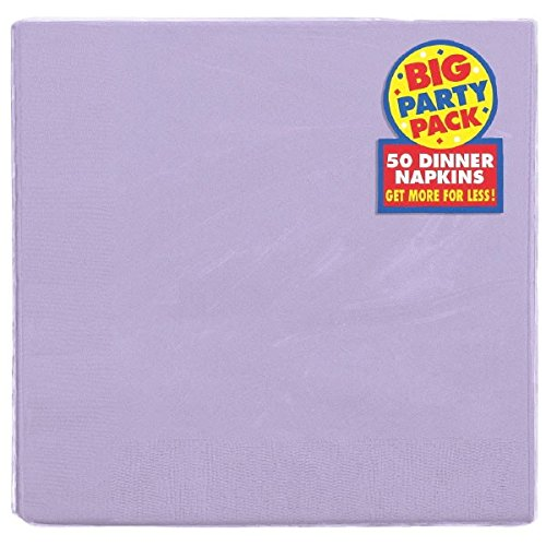 (Lavender, Big Party Pack, 2-Ply Dinner Napkins, 50 Per)