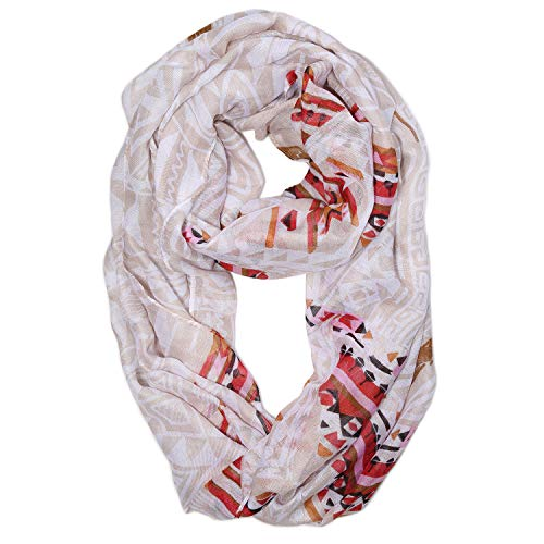SOJOS Womens Fashion Pattern Premium Soft Lightweight Loop Infinity Scarf SC311 With Apricot Calico ()