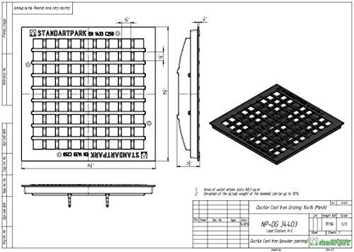 Standartpark - 16x16 Catch Basin W/ Cast Iron Grate Package! by Standartpark (Image #4)