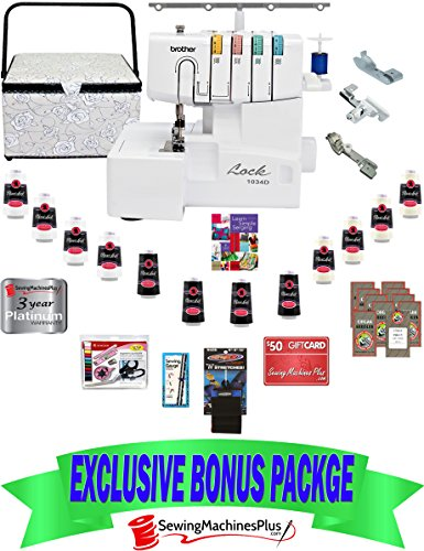 $599 VALUE BROTHER® 1034D 3/4 THREAD DIFFERENTIAL FEED SERGER WITH BONUS PACK!