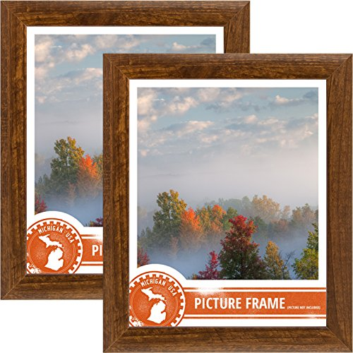 2 Piece Finish - Craig Frames 23247616 24 by 36-Inch Picture Frame 2-Piece Set, Smooth Finish, 1-Inch Wide, Walnut Brown