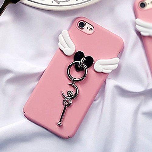 Phone Hülle für iPhone 7 ,Schutzhülle Für iPhone 7 3D-Flügel und Mond-Zauberstab schützender rückseitiger Abdeckungs-Fall ,cover für apple iPhone 7,case for iphone 7 ( SKU : Ip7g0267a )
