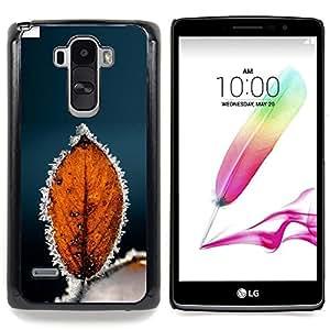 - Autumn Winter Frost Leaf/ Duro Snap en el tel????fono celular de la cubierta - Cao - For LG G Stylo / LG LS770 / LG G4 Stylus
