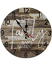 Outdoor/Indoor Wall Clock Waterproof, Silent Non Ticking 9.8 Inch Clock Decor Clock for Patio, Garden, Pool Or Hanging Outside