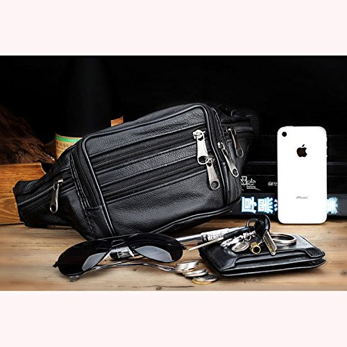 JD Million shop men travel bags genuine leather bag men waist pack waist bag fanny pack waist belt
