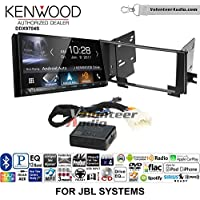 Volunteer Audio Kenwood DDX9704S Double Din Radio Install Kit with Apple Carplay Android Auto Fits 2003-2009 Toyota 4Runner with Amplified System