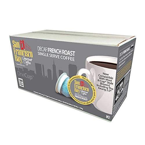 San Francisco Bay OneCup, Decaf French Roast, 160 Count- ...