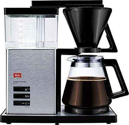 Melitta Cafetera de filtro con jarra de vidrio, Función temporizador y conservación de temperatura, Aroma Signature DeLuxe, Negro, 1007-02: Amazon.es: Hogar
